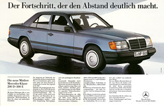 Mercedes-Benz W124 (1984) (jens.lilienthal) Tags: auto old classic cars car vintage advertising mercedes benz reclame ad voiture advertisement advert older autos werbung mb reklame voitures anzeige w124 eklasse