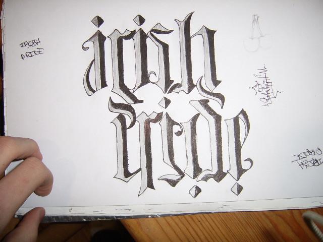 Irish pride. tattoo design look at it upside down