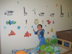 See how many stickers I have on the wall?