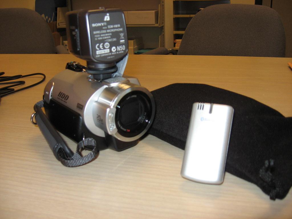 Sony DCR-SR300 with wireless mic