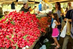 IMG_0982 (artcphoto) Tags: street city nyc urban newyork radishes downtown farmersmarket manhattan explore carrots unionsquare 40d
