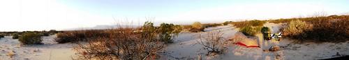 Desert campsite near Acala, Texas, USA