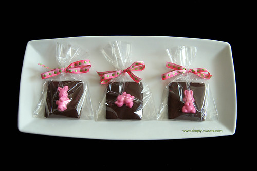Bunny chocolate covered graham crackers