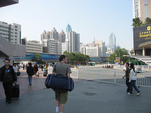 Adam and I head into Shenzhen