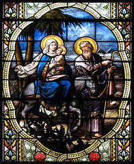 Flight into Egypt (Lawrence OP) Tags: church glass parish mary jesus flight egypt stjoseph stained lourdes holyfamily