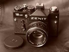 Zenit 12XP (.e.e.e.) Tags: camera slr film antique soviet zenit analogue russian helios zenit12xp helios258
