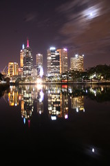 metrotherapy (maybemaq) Tags: trees sky urban moon black reflection nature skyline night clouds forest buildings river exposure tranquility australia melbourne calm transparency moonlight cbd breathtaking nightwalk sharpness yarrariver eyewashdesign metrotherapy riversongs