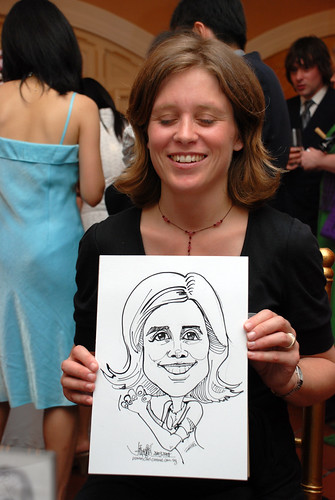 Caricature live sketching for wedding dinner5