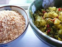 花生粉與酸菜