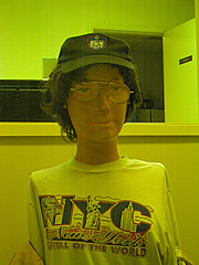 guard (dogsbody) Tags: nyc newyork hat night vancouver fun glasses guard tshirt security creepy armless dummy capitaloftheworld idswearhewasreal