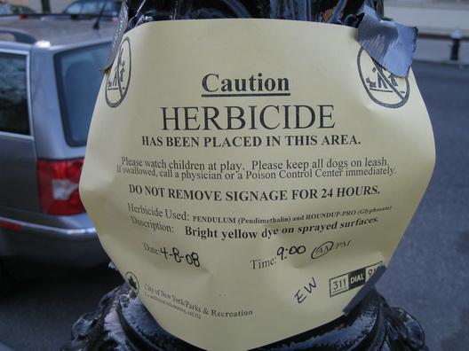 Herbicide Sign