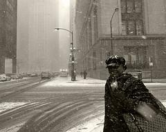 Chicago, 2008 (Alan Barr) Tags: street blackandwhite bw snow chicago monochrome mono blackwhite streetphotography sp 2008 ricoh