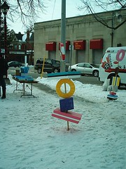 Candy Tower (jessica_in_to) Tags: winter cambridge snow ontario canada festival centralpark candyland christmasincambridge