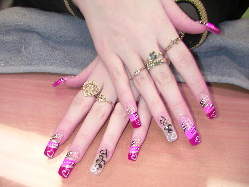 executive nail arts, in love nail arts, faithful nail designs