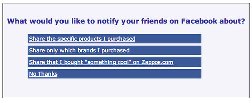 Zappos Made Facebook Beacon Less Sneaky