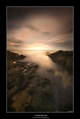 A TOUCH OF GOLD (Steve Boote..) Tags: longexposure sea black coast rocks hole north east northumberland northumbria coastline craster roq blueribbonwinner sigma1020 mywinners ndx1000 platinumphoto theperfectphotographer goldstaraward samsunggx20