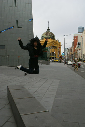 Me, jumping in Melbourne