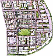 Jeffrey Place site plan (by: Natl Community Builders & Acock Associates, Jeffrey Place press kit)