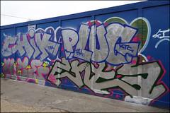 Chik / Plug / 4ce / Enta (Alex Ellison) Tags: eastlondon urban graffiti graff boobs chik plug 4ce enta