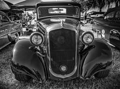 Golden Oldie (Abraham Schoenig) Tags: air show car oldcar team sun n fun 2016 day world nikon d810 tamron outdoor vehicle auto rise blue grass yellow reflection green engine blackandwhite bw