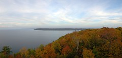 eagle-tower-pano-fixed (danieljohannsson) Tags: panorama fall leaves wisconsin doorcounty autostich peninsulastatepark eagletower