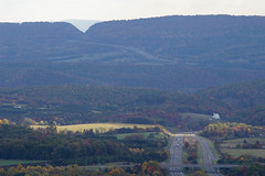 View from Town Hill, with Sideling Hill cut and I-68 in the distance