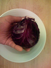 The red cabbage (from the garden)