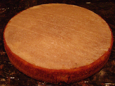 pumpkin cheesecake on frangipane