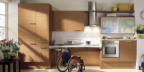 Modern Minimalist Kitchen Interior Wood Material