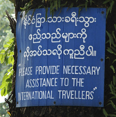 Please provide necessary assistance to the international travellers