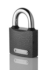 Closed padlock (Grey Wind) Tags: white macro metal closeup key closed break symbol lock background steel security system safety chrome bolt opening secure safe hack ideas protection padlock isolated stealing locking solid password concepts opened accessibility unlocking safeguard