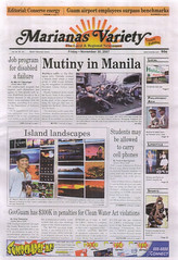 EXHIBIT FRONT COVER (JRmanNn) Tags: newspaper exhibit variety guam marianas caha jrmannn