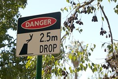 2.5m drop (yewenyi) Tags: park trip holiday sign danger warning dive australia victoria drop vic aus rosalind weeee splat stickfigureinperil oceania bellyflop bendigo goldfields 25m auspctagged pc3550 rosalindpark justpassingby centralvictoria leapingoff