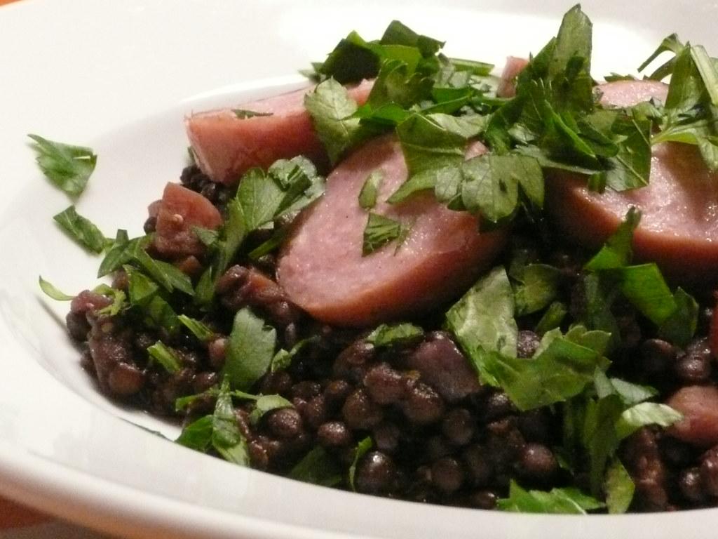 Sausage & lentils vinaigrette