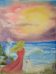 Fernweh (edelbeam) Tags: rose see meer hund landschaft acryl bothel