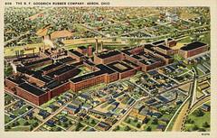 BF Goodrich complex (vcrimson) Tags: ohio factory postcard scan bf akron bfg bfgoodrich