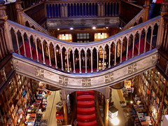 The 3rd most beautiful bookshop of the world! (stukinha) Tags: world red portugal beautiful lines shop architecture stairs facade for book design store high arquitectura francisco europa europe looking cathedral sale library balcony rail down books symmetry bookstore stairway most mais porto staircase douro bonita irmo classical inside thumbsup neogothic bookshop fachada litoral shelves mundo trolleys ernesto guardian terceira rhythm theguardian redcarpet lello livraria the stuka 3way 1869 escadaria esteves neogtica challengeyou challengeyouwinner 3waychallenge chardron flickrchallengewinner stukinha ccctd photofaceoffwinner thechallengegame challengegamewinner pfogold friendlychallenges anacompadre mostbeautifulbookshop