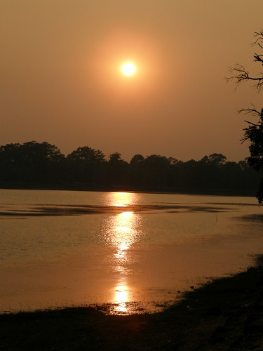 Sunset over Siem Reap