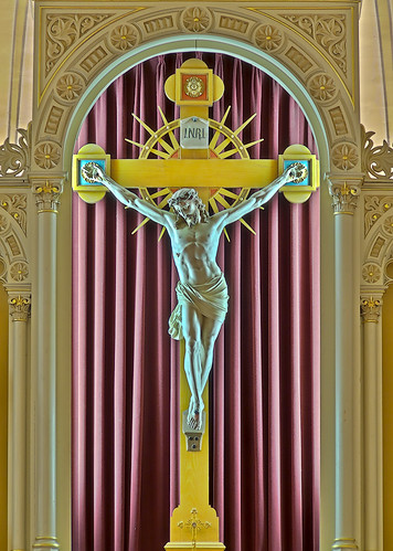 Saint Peter Roman Catholic Church, in Saint Charles, Missouri, USA - crucifix
