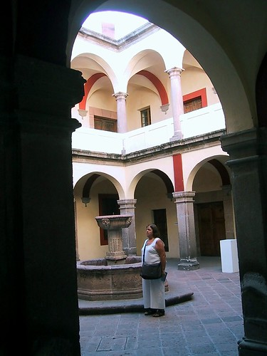 Querétaro, junto a una fuente