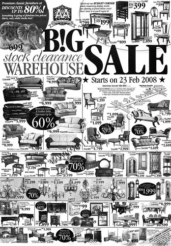 "American Accent Furniture B!G ""Stock Clearance"" Warehouse Sale"