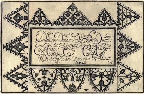 Bertozzi + Zanilla 1604 Lace Typography f