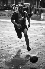 Football player... (LukeDaDuke) Tags: ball football fussball action soccer thenetherlands running run player denbosch ftbol voetbal shertogenbosch fotboll footballplayer fusball   speler       artlegacy homelessfootballtournament