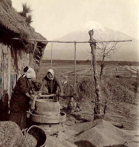 THE FARMER AND HIS WIFE -- Laboring in the Shadow of Mt. Fuji