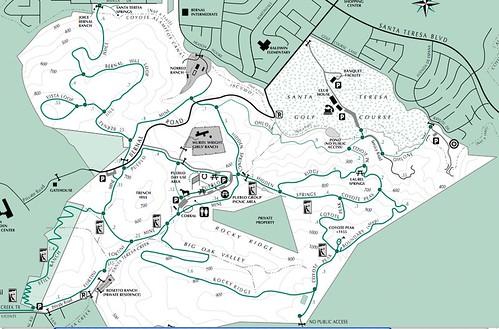 Santa Teresa County Park map