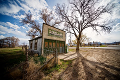sinclair station (Sam Scholes) Tags: sky building tree classic abandoned clouds digital utah shadows historic gasstation ruraldecay d3 sinclair elberta 1stplaceaward judgeschoiceaward utahcountyfair