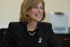 Gail J. McGovern meeting Red Cross staff