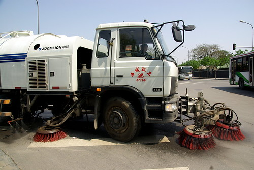 Mechanical street sweeper in Beijing
