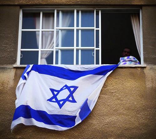 White-blue flag