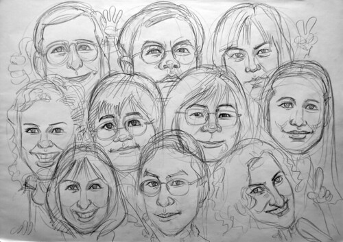 Caricatures Seagate pencil sketch